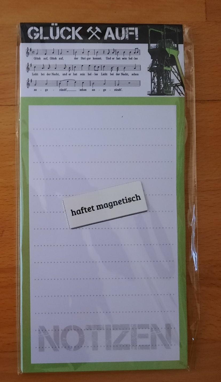 """Notizblock """"Glück auf"""""""