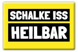 """Magnetpin """"Schalke iss heilbar"""""""