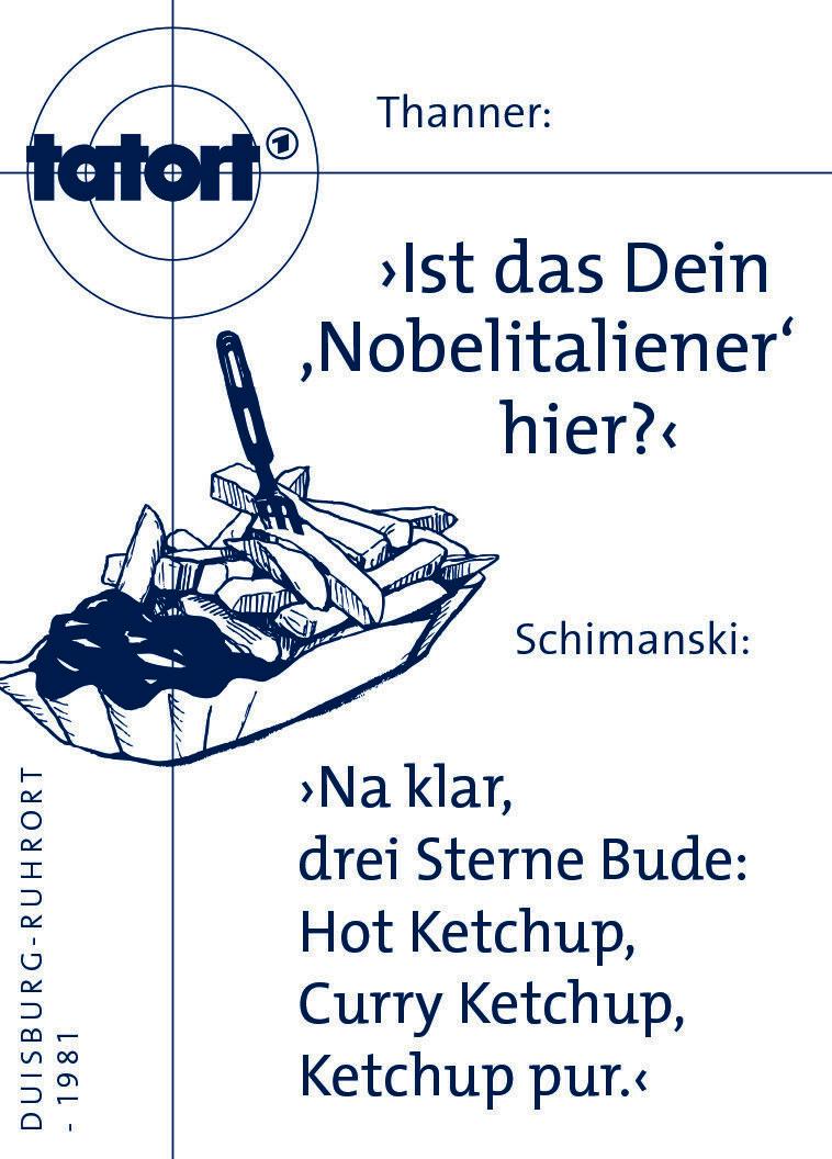 Tatort Magnetpin Thanner Nobelitaliener