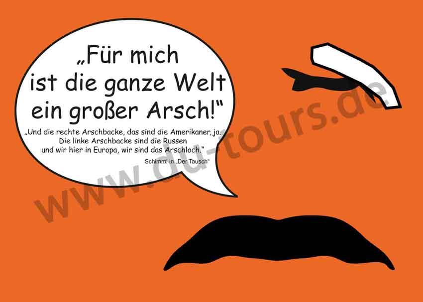 Schimmi Postkarte (orange)