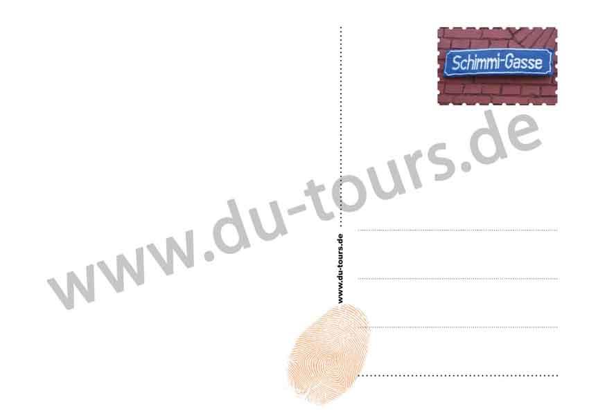 Schimmi Postkarte (blau)